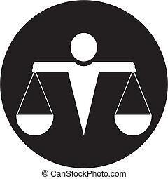 justiça, ícone