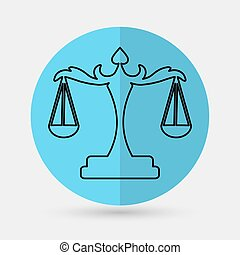 justiça, escalas