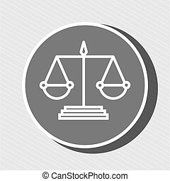 justiça, símbolo, desenho, isolado, ícone