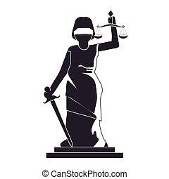 justiça, senhora, ícone