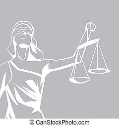 justiça, senhora