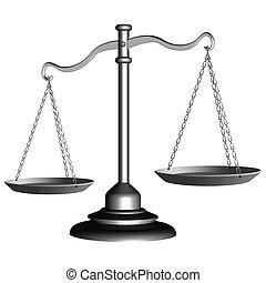 justice, échelle, argent