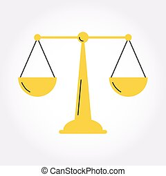 justice, équilibre, symbole, balance, icône