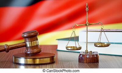 justice, allemand, tribunal, allemagne, lois