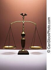 justice, américain, échelle