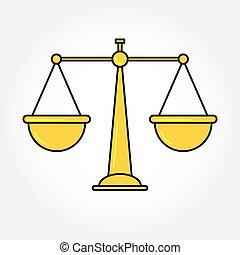 Justice Balance Libra icon symbol