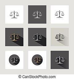 justice, balances, icônes