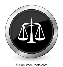 justice black icon law sign