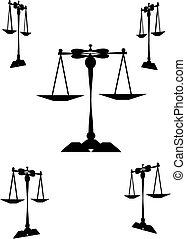 justice, blanc, balances