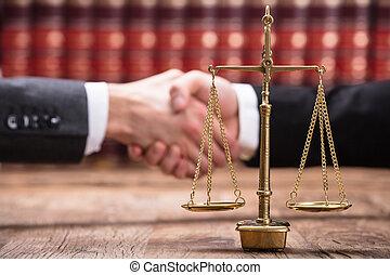 justice, bois, gros plan, échelle, bureau
