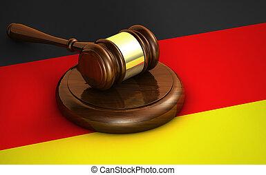 justice, concept, allemagne, droit & loi