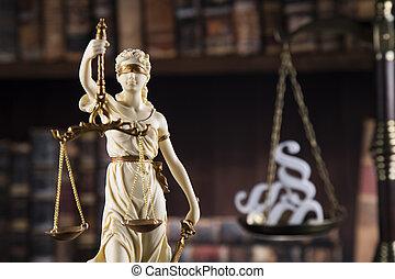 justice, concept, dame, statue, droit & loi