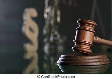 justice, concept., droit & loi