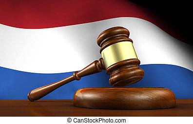 justice, concept, pays-bas, droit & loi, hollandais