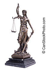 justice, concept, statue, droit & loi