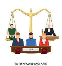 Justice concept with scales - Justice concept vector...