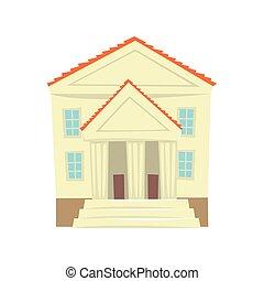 Justice court building cartoon vector Illustration