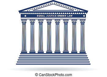 Justice court building image logo
