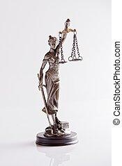 justice, -, déesse, themis, statue