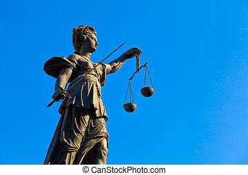 justice, dame, francfort, germany.