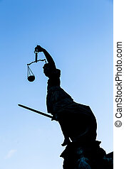 justice, dame, francfort, (justitia), statue