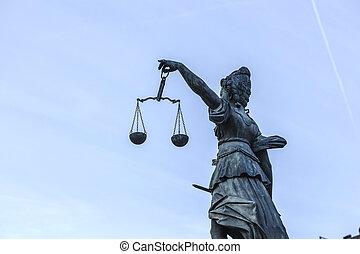 justice, dame, francfort
