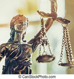 justice, dame, statue