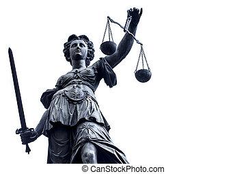 justice, dame, stature, allemagne, n