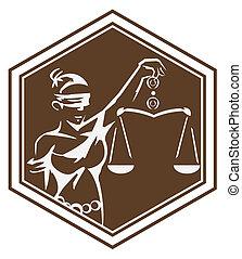 justice dame, symbole
