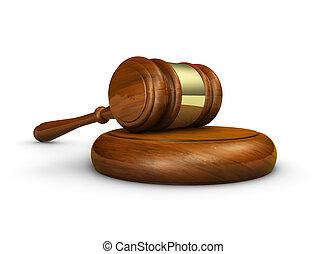 justice, droit & loi, marteau, symbole
