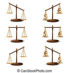 justice, ensemble, balances