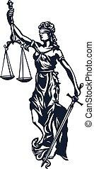 justice, femida, dame