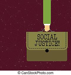justice., fogalom, vagyon, színes, öltés, szöveg, előjogok, belül, egyenlő, businessman írás, belépés, társadalom, jelentés, szállítás, applique., társadalmi, irattartó, kézírás, kéz, aktatáska