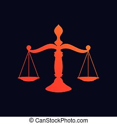 justice, fond, balances