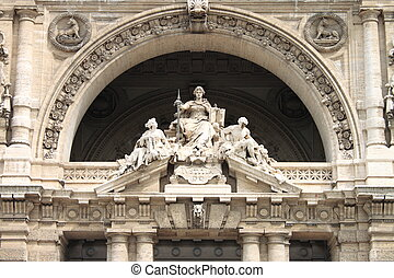 Justice goddess - Statue of the justice goddess in the...
