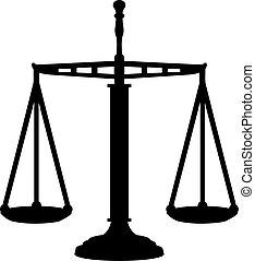 justice, grand, échelle, égal
