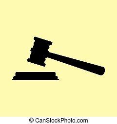 Justice hammer sign