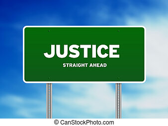 Justice Highway Sign - High resolution graphic of a justice...
