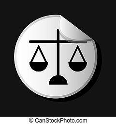 justice icon design, vector illustration eps10 graphic