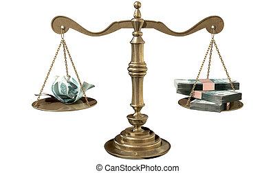 justice, inégalité, russie, trouée, revenu, balances