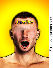 Justice Is Blind - Conceptual image indicating that Justice ...