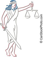 justice-lady-holding-scales-neon