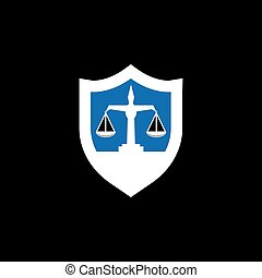 Justice law logo vector template