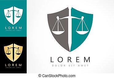 justice, logo, échelle