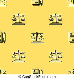 justice, modèle, seamless, balances