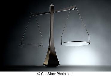 justice, moderne, balances