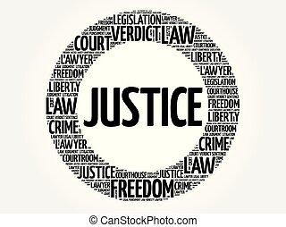 justice, mot, nuage