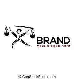 Justice People Logo. flat design. Vector Illustration on white background