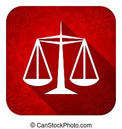 justice, plat, icône, noël, bouton, droit & loi, signe