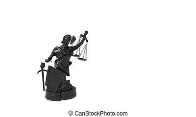 justice, rendre, 3d, dame, cassé